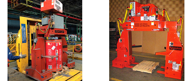 coil grabs, coil lifter, steel coil grabber, telescoping coil lifters