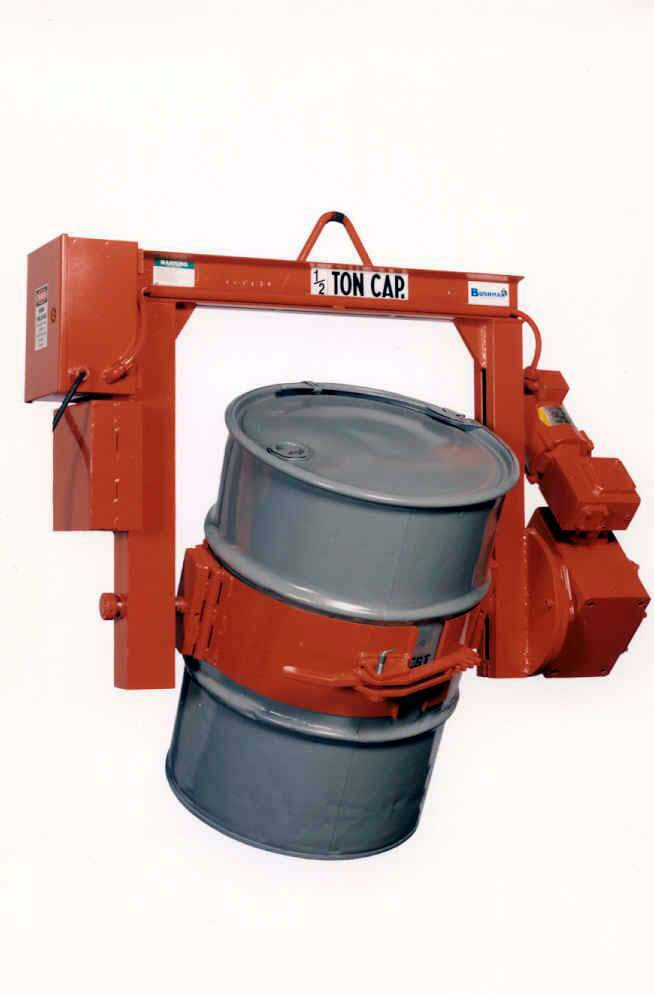 drum lifters, drum tilter, motorized drum lifters, rotating drum Lifters, 55 gallon drum tilter, motorized rotating drum tilter