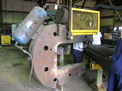 ladle beam, ladle hooks, j hooks for lifting, plate laminations are riveted together