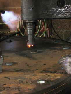 ladle beam, ladle hooks, j hooks for lifting, rivet is formed
