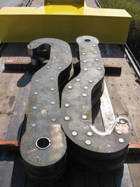 ladle beam, ladle hooks, j hooks for lifting, riveted ladle hooks