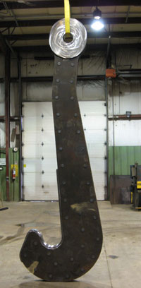 ladle beam, ladle hooks, j hooks for lifting, ladle hook with steel palm bushings