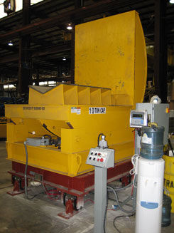 coil weighing upenders