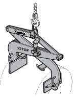 pressure lifting tong for ergonomic material handling