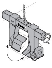 specialized roll lifter or roll handling equipment