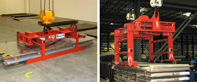 steel sheet lifter, plate lifter, bundle lifter, light heavy duty sheet lifters