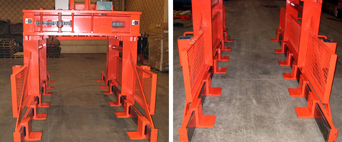 steel sheet lifter, plate lifter, bundle lifter, sheet stacks varying pallet length