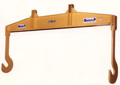 spreader beam, lifting beam, magnet beam, lifting device, spreader beam with fixed J-hooks