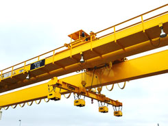 spreader beam, lifting beam, magnet beam, lifting device, fixed length magnet beam