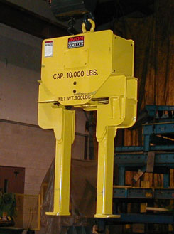vertical lifting equipment, heavy lifting equipment, lifting equipment, lifting device or coil bore grab