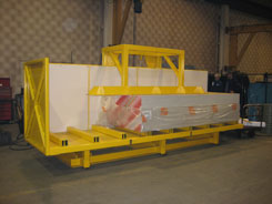 hydraulic lifting equipment - upender upends loads of drywall