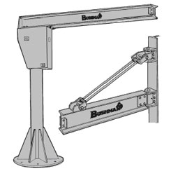 jib cranes, jib crane attachments, motorized jib crane, standard jib cranes