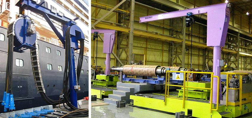 column mounted jib cranes, jib attachment