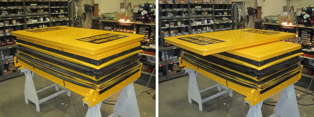 industrial lift tables, jack screw lift platforms