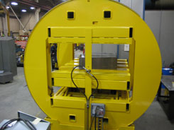 hydraulic barrel frame inverter or flipper or flopper or turner