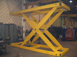 high capacity industrial scissors lift table