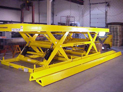 double long scissors lift table