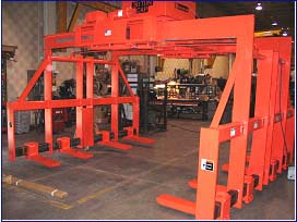lifting device for wind energy material handling