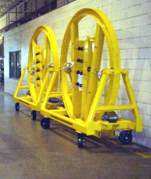 propeller cart for material handling in wind energy equipment manufacturing