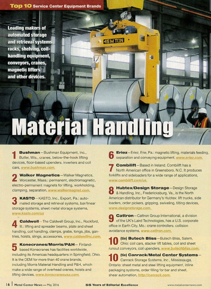 Bushman Voted #1 Material Handling Equipment Brand