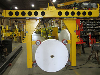 Bushman Equipment Rolls Lifting Solution Into Tissue Plant