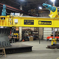 bushman equipment manufactures unique jib cranes, bushman equipment news