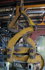 single rim coil tong lifting device before bushman equipment's renew repair services